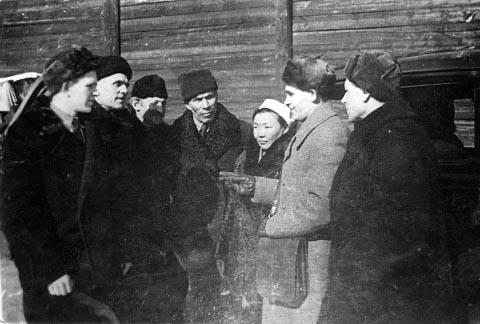 Первая делегация Якутии на фронте 3